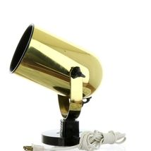 Vintage 1980s Gold Tone Juno Track Can Accent Spot Light image 3