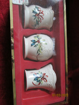 Lenox Winter greeting set of 3 votive candle holders  - $19.75