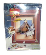 """Wrebbit Paint 3D Three's Company Paint by Number Bird House 12""""x14"""" Model 92001 - $24.63"""