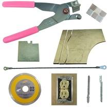 Tile & Glass Cutter Kit Pink Curve Notch Cutouts Jigsaw Rodsaw Grinder B... - $55.17