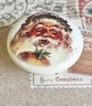 "Handcrafted Santa Knobs, 1.5"" Cabinet Knob, Vintage Style Dresser Knobs - $6.44"