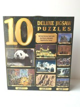 10 Deluxe Jigsaw Puzzles 6750 Pieces Wildlife Scenery Architecture Landm... - $59.39