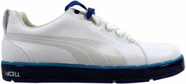 Puma HC Lux LE Golf White/Vivid Blue-Surf  Men's 186093 03 Size 7 Medium - $43.30