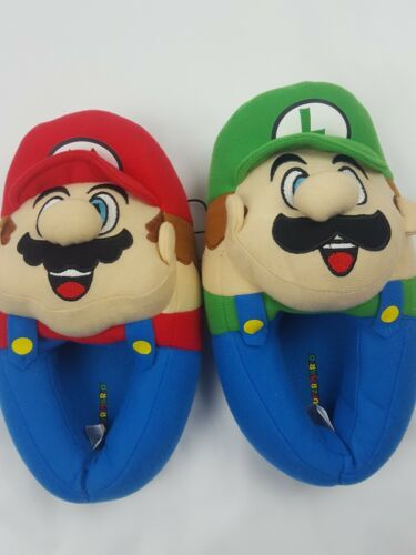 Primary image for Super Mario Brothers Boys Plush Slippers 11-12 S US Little Kid Mario Luigi Blue