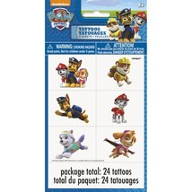 Paw Patrol 24 Tattoos Temporary Nickelodeon Dogs 4 Sheets - $4.11 CAD