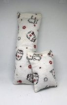 100% CatNip Filled Cat Pillow Toy Bundle Cat Round Kitties w/ Red Bow He... - $11.99