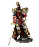 Legendary King Arthur Pendragon Wielding The Excalibur Sword Figurine Ma... - $47.51
