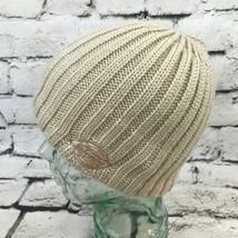 Dickies Unisex OSFA Hat Beige Cable Knit Beanie Fleece Lined Warm Winter... - $14.84