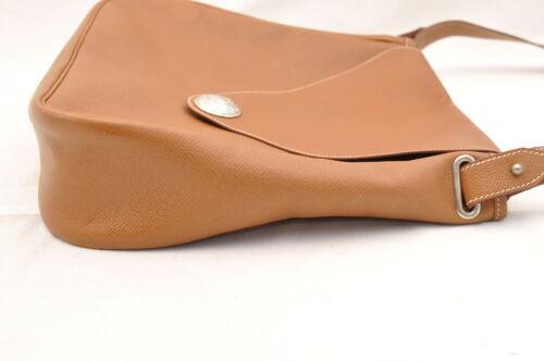 HERMES Christine Shoulder Bag Leather Brown Auth 5676 image 4