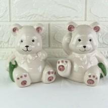 Vintage Ceramic Teddy Bear Coin Bank Pair - $11.88