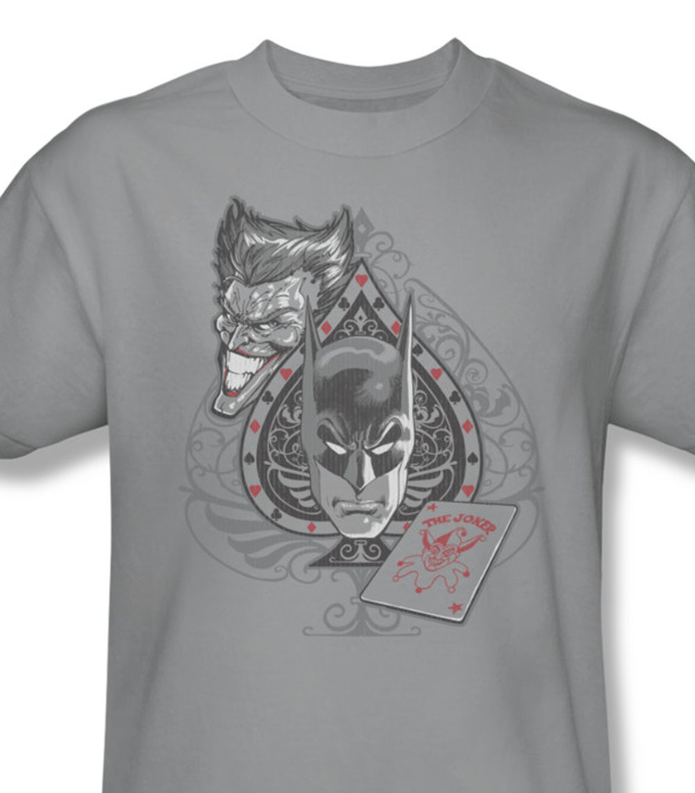 Batman the joker graphic tee dc comics for sale online gray graphic tshirt