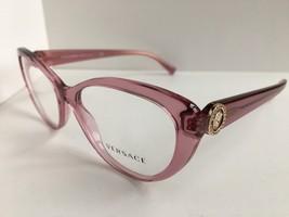 New Versace 4632-B Clear Pink 52mm Cats Eye Women's Eyeglasses  Frame #1,2 - $199.99