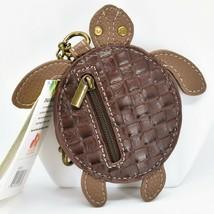 Chala Handbags Faux Leather Whimsical Sea Turtle Coin Purse Key Chain Keychain image 2