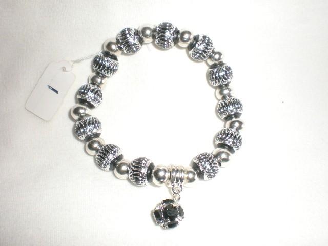 NeW  Ladies'  Charming Bling  Beads Dangle Charm Stretch  Bracelet