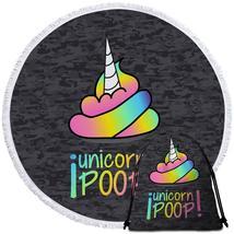 Funny Unicorn Poop Beach Towel - $12.32+