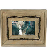 Rustic Barnwood and Barbed Wire Western Picture Frame 4x6 - $17.95