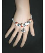 NeW Sailor Anchor Charm Ship  European Beads Chain Bangle Bracelet  - $4.99