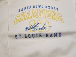 St. Louis Rams Vintage Sweatshirt XL Super Bowl XXXIV Champion Kurt Warn... - $9.99