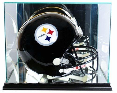 Full Size Football Helmet Display Case - Glass Top with Black Base