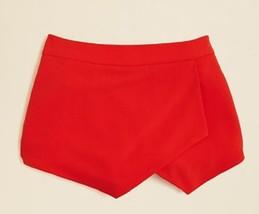 AQUA Girls' Ponte Wrap Skort, Coral, Size S, MSRP $52 - $17.81