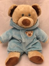 Ty Pluffies Bear NON Removeable Soft Pajamas 2012 Plush Lovey blue stuff... - $11.24
