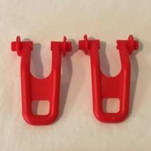 Evenflo Exersaucer Triple Fun Kick Stand Leg Feet Red Lot of 2 Replacement Part - $4.99