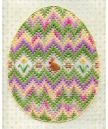Bargello Egg easter canvaswork needlepoint chart w/canvas Laura J Perin ... - $17.98