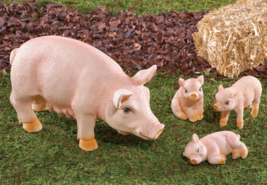 Mama Pig and 3 Piglets Figurines - $21.50