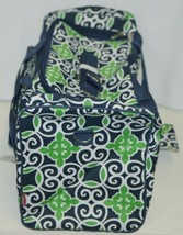 NGIL THQ423NAVY Sailor Print Canvas Duffle Bag Colors Navy Green and White image 2