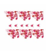 100  Iridescent AB  RED  3D  Puffy HEARTS  Shapes - $2.29