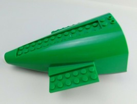 LEGO Green Gray Airplane Fuselage Tail Piece Authentic - $9.89