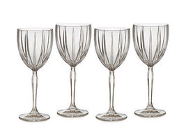 "WATERFORD MARQUIS ""OMEGA"" WINE GLASSES SET/4 CRYSTAL CLEAR MADE IN GERMA... - $189.35"