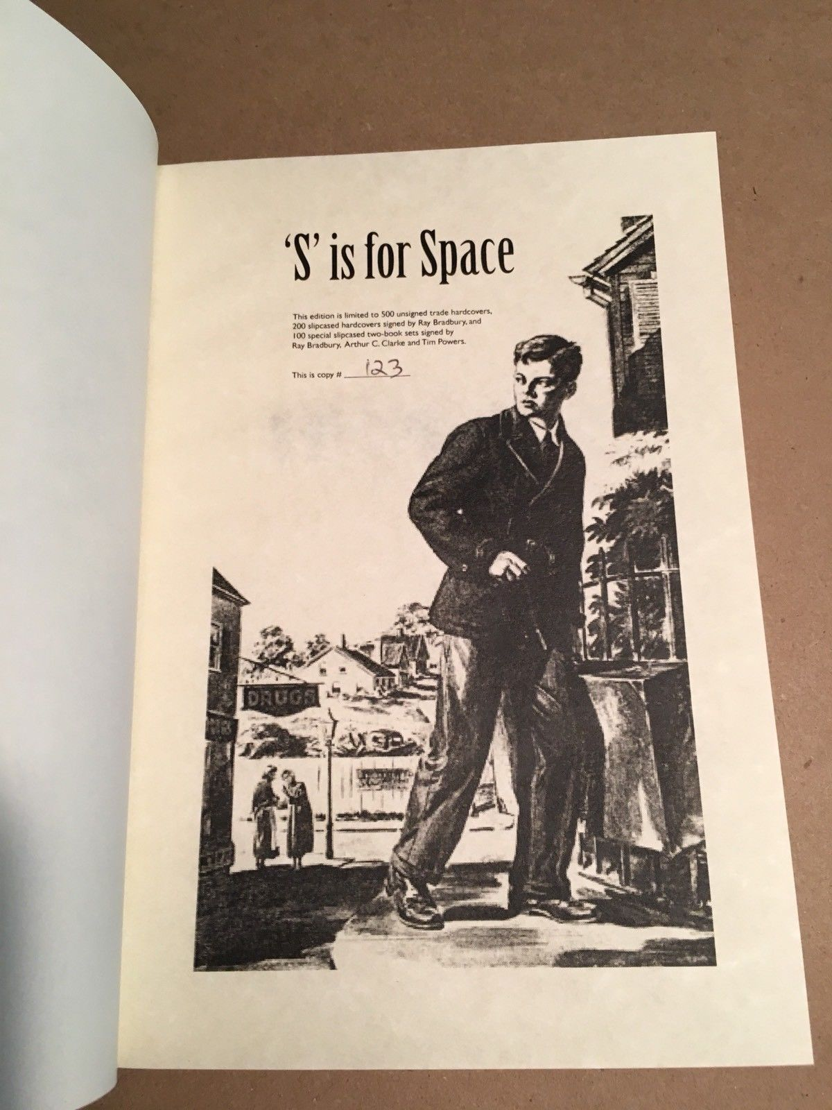 S is For Space by Ray Bradbury. Limited, signed. COA with book. Nice.