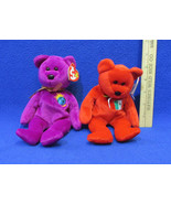TY Beanie Babies Plush Original Stuffed Animals 1999 Osito & Millennium ... - $12.22