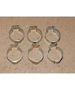 "9/16"" Hose Pinch Clamps Single Ear 6ea Tubing Dixon Keystone Zinc Steel ... - $6.49"