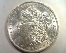 1884-O MORGAN SILVER DOLLAR UNCIRCULATED UNC. NICE ORIGINAL COIN FROM BO... - $54.00