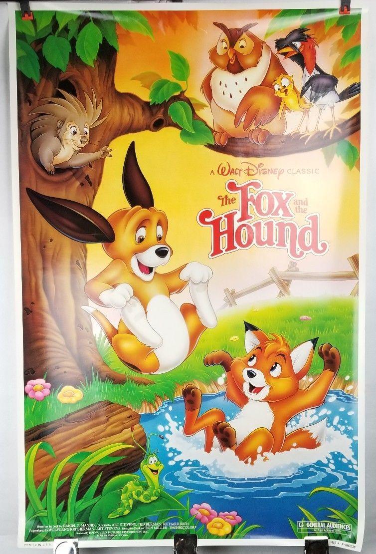 "The Fox & the Hound Walt Disney Movie Poster 40""x26"" 1981 Original Rolled Ship"