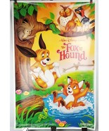 "The Fox & the Hound Walt Disney Movie Poster 40""x26"" 1981 Original Rolle... - $58.04"