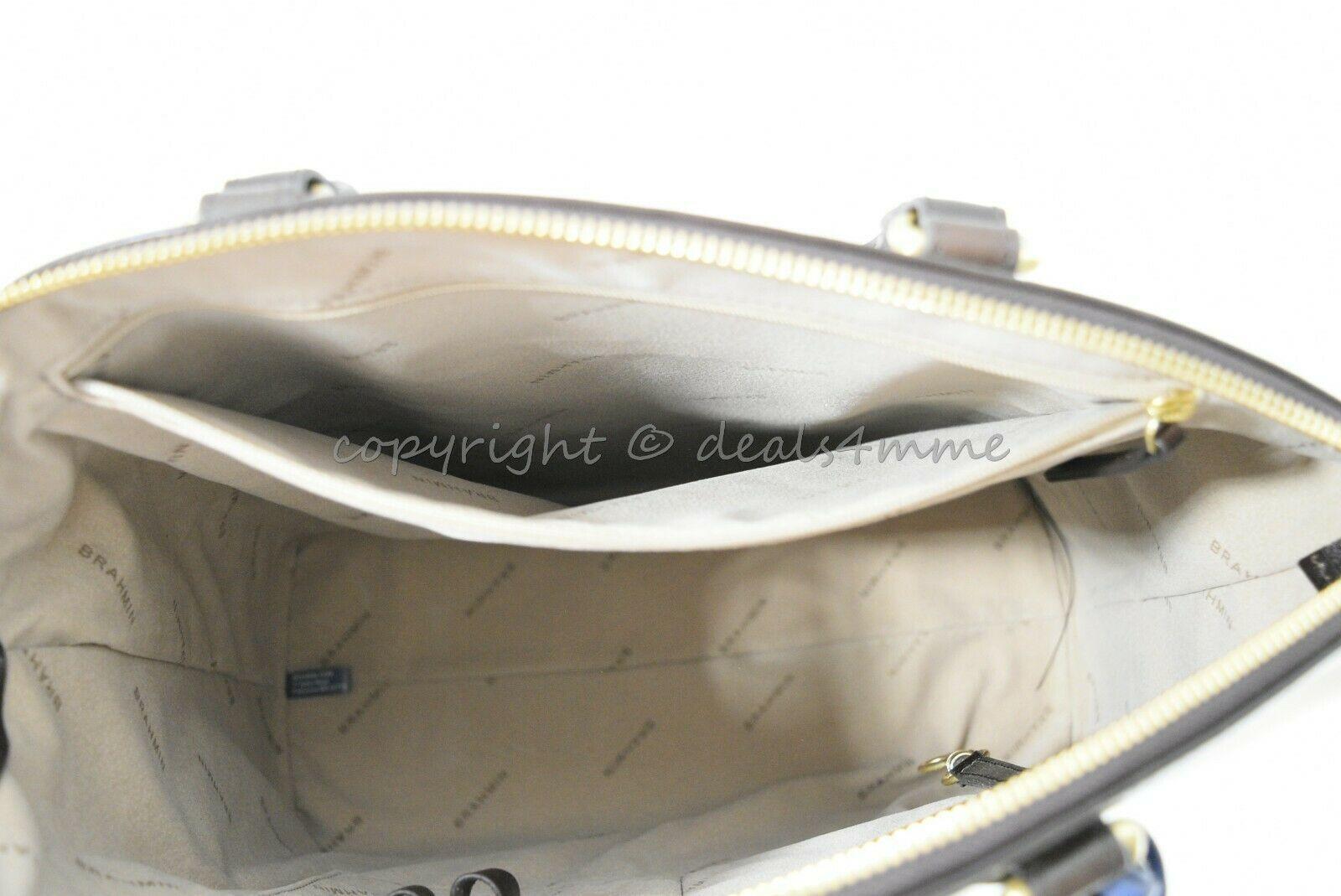 NWT Brahmin Large Duxbury Smooth Leather Satchel/Shoulder Bag in Sand Westport image 12