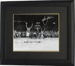 Christian Laettner signed Duke Blue Devils Horizontal B&W Celebration Metallic 8 - $109.95