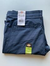 WOMENS DICKIES UNIFORM Work Pants 14R Navy Blue SLIM Fit Stretch Fabric - $17.80