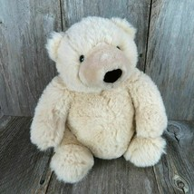 Vintage Teddy Bear Plush Potsy Wishpets Stuffed Animal Toy Doll 1997 Cream  - $71.27