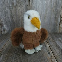Vintage Eagle Stuffed Animal Dakin 1981 Plush Bald Eagle Nutshell Filled... - $34.64