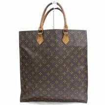 Louis Vuitton Brown Monogram Genuine Leather Sac Plat Tote Bag Handbag 3... - $435.60