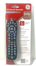 GE General Electric 24922 6-Device Universal Remote Control (Black) ~ NEW SEALED - $14.00
