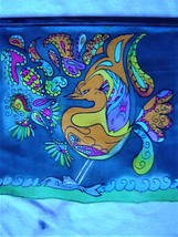 """The Catch""  Silk painting - $20.00"