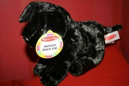 "Melissa & Doug BENSON BLACK LAB PUPPY DOG 10"" Plush STUFFED ANIMAL Toy NEW - $13.94"