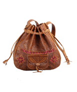 Vintage Moroccan Crossbody Shoulder Bag Handmade Genuine Leather Purse F... - $49.95