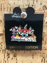 DISNEYLAND 2001 LARGE MICKIE, MINNIE, GOOFY, DONALD, PLUTO PIN NEW B-3 - $19.79