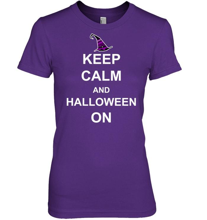 Funny Halloween Tshirt Keep Calm Costume Men Women Kids